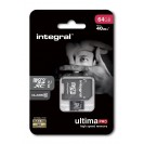INTEGRAL ULTIMA PRO MICRO SDHC 64GB CLASS 10 WITH SD ADAP...